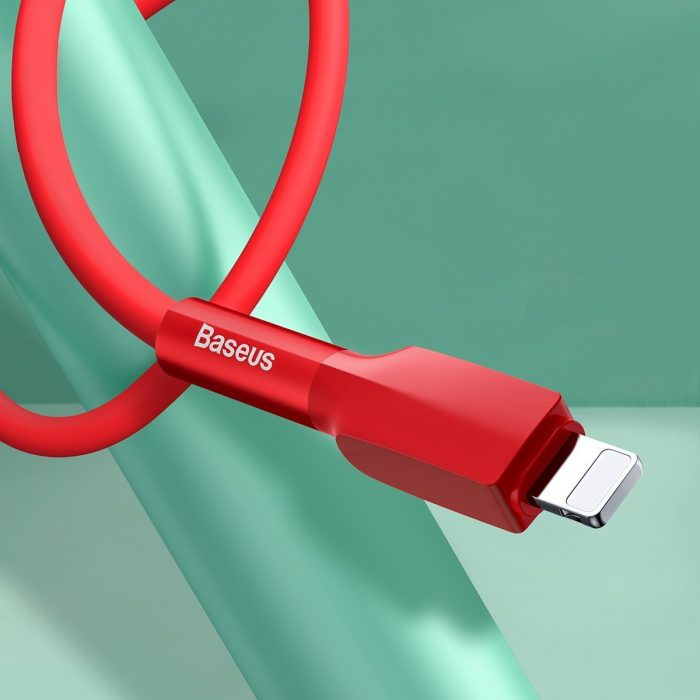 Baseus Silica Gel USB Lightning Cable 2.4A 1m Red - export 415
