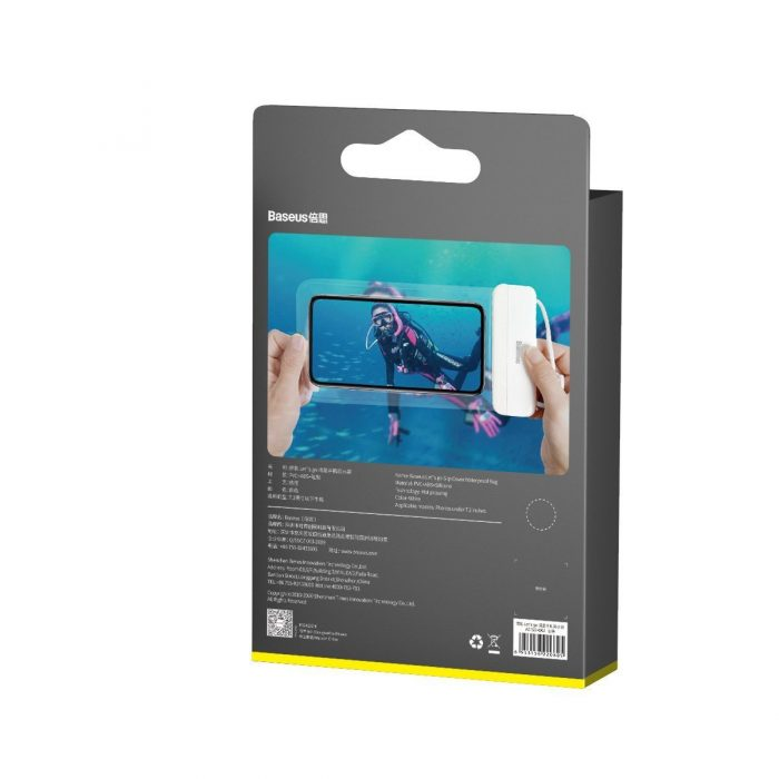 baseus let's go universal waterproof case white - export 823