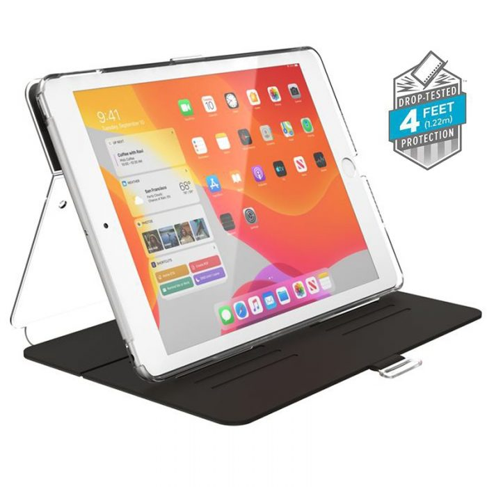 Speck Balance Folio Clear - Etui iPad 10.2 w/Magnet & Stand up (Black/Clear) - export 2206