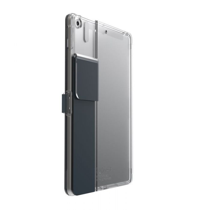 speck balance folio clear - kryt ipad 10.2 w/magnet & stand up (gunmetal grey/clear) - export 2230