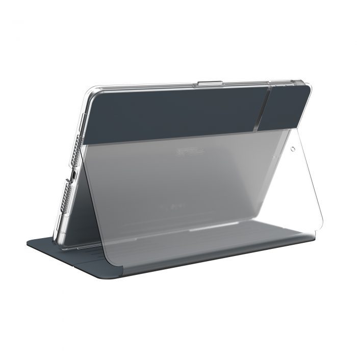 speck balance folio clear - kryt ipad 10.2 w/magnet & stand up (gunmetal grey/clear) - export 2233
