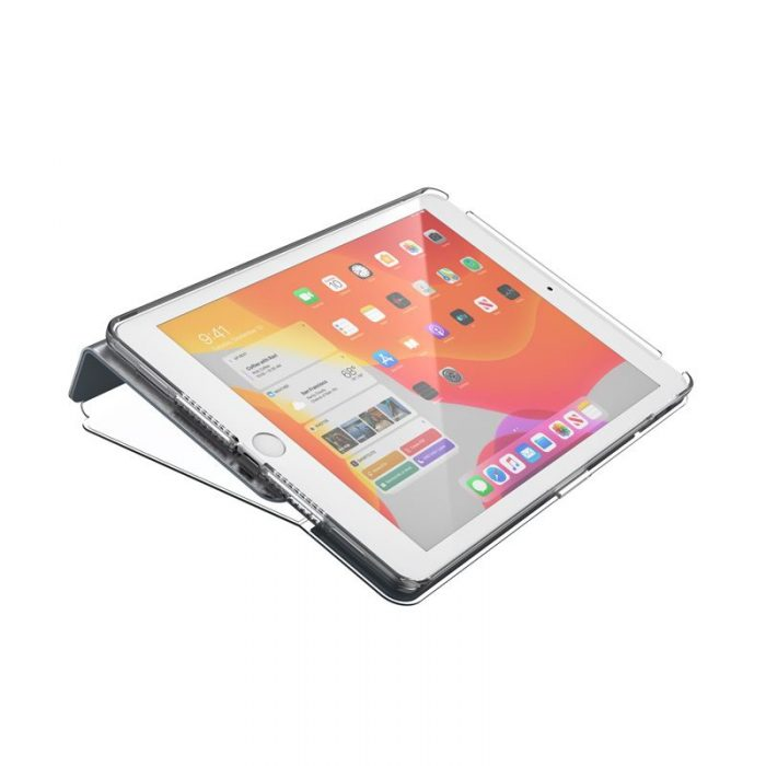 speck balance folio clear - kryt ipad 10.2 w/magnet & stand up (gunmetal grey/clear) - export 2234