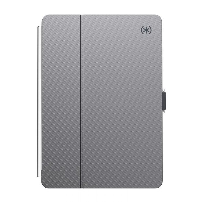speck balance folio clear - kryt ipad 10.2 w/magnet & stand up (gunmetal grey/clear) - export 2236