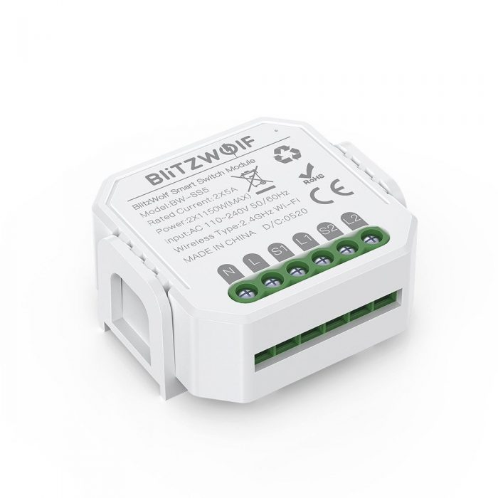 blitzwolf bw-ss5 smart switch wifi 2-gang - export 799