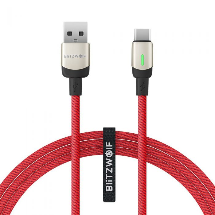 BlitzWolf BW-TC21 USB-C Cable 3A 1m (red) - export 839