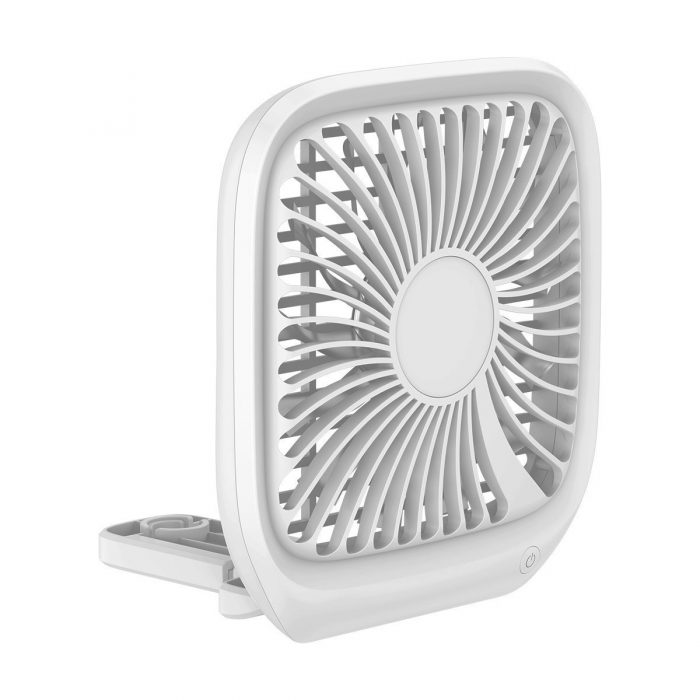 baseus foldable vehicle-mounted backseat fan car headrest micro usb windmill white - export 152
