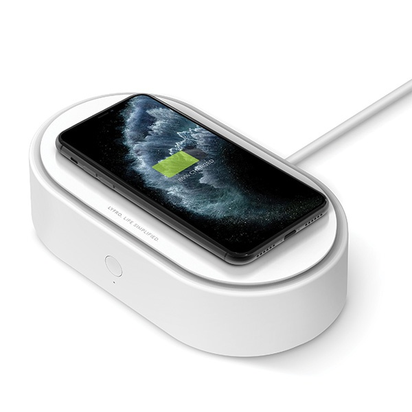 UNIQ LYFRO All-in-One UVC Sanitizer with Fast Wireless Charging 10W white