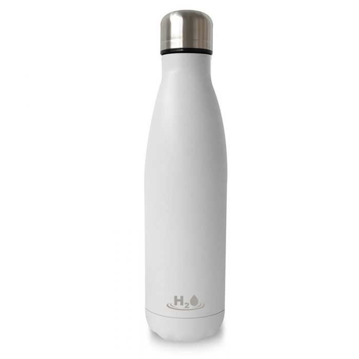 puro h2o thermal stainless steel water bottle 500ml (matt white) - export 2117