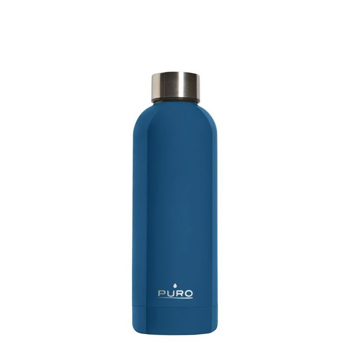 puro hot&cold thermal stainless steel water bottle 500ml (dark blue) - export 2126