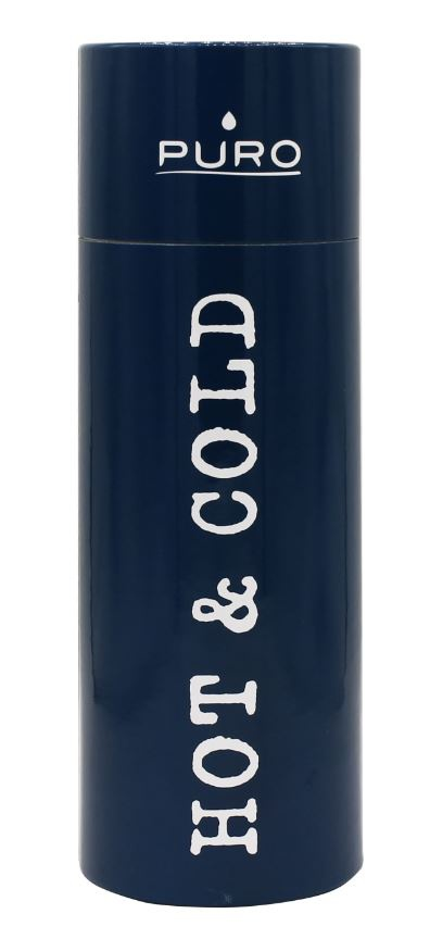 puro hot&cold thermal stainless steel water bottle 500ml (dark blue) - export 2128