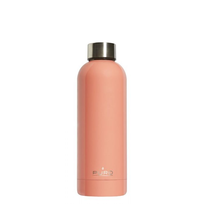 puro hot&cold thermal stainless steel water bottle 500ml (light orange) - export 2130