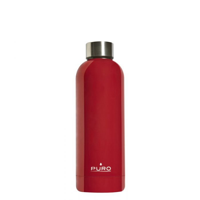puro hot&cold thermal stainless steel water bottle 500ml (red) - export 2133