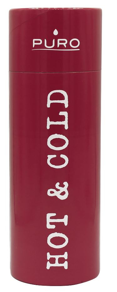 puro hot&cold thermal stainless steel water bottle 500ml (red) - export 2135
