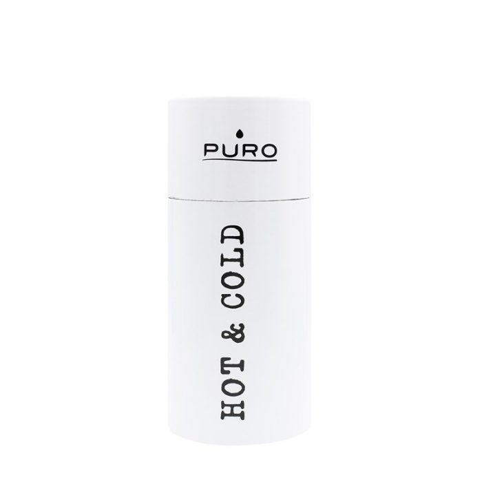 puro hot&cold thermal stainless steel water bottle 350ml (shiny white) - export 2172