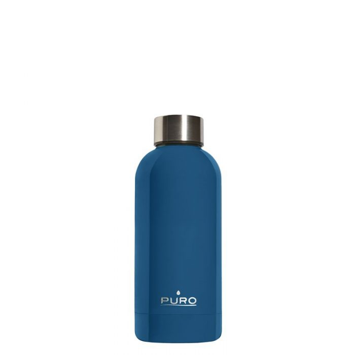puro hot&cold thermal stainless steel water bottle 350ml (dark blue) - export 2175
