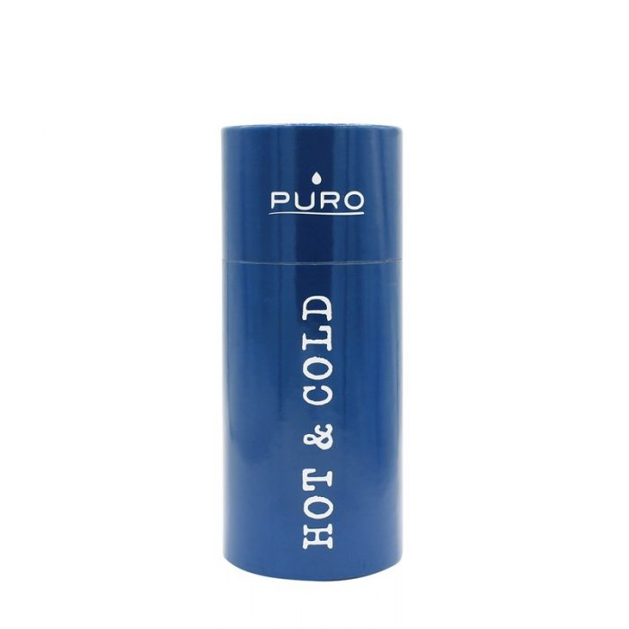 puro hot&cold thermal stainless steel water bottle 350ml (dark blue) - export 2176