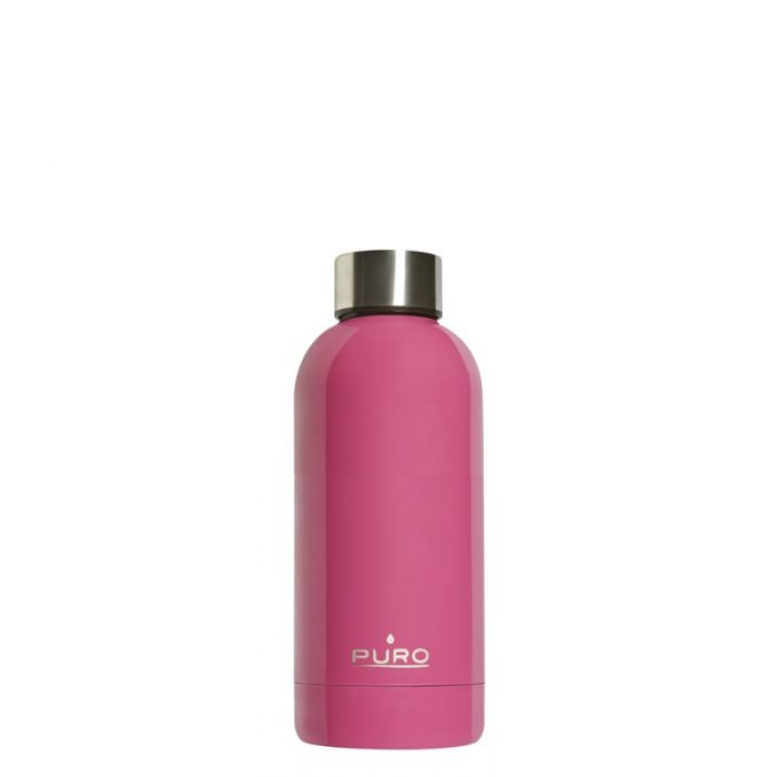 puro hot&cold thermal stainless steel water bottle 350ml (fucsia) - export 2178
