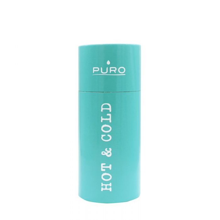 puro hot&cold thermal stainless steel water bottle 350ml (light blue) - export 2180