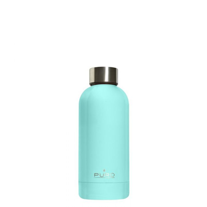 puro hot&cold thermal stainless steel water bottle 350ml (light blue) - export 2181