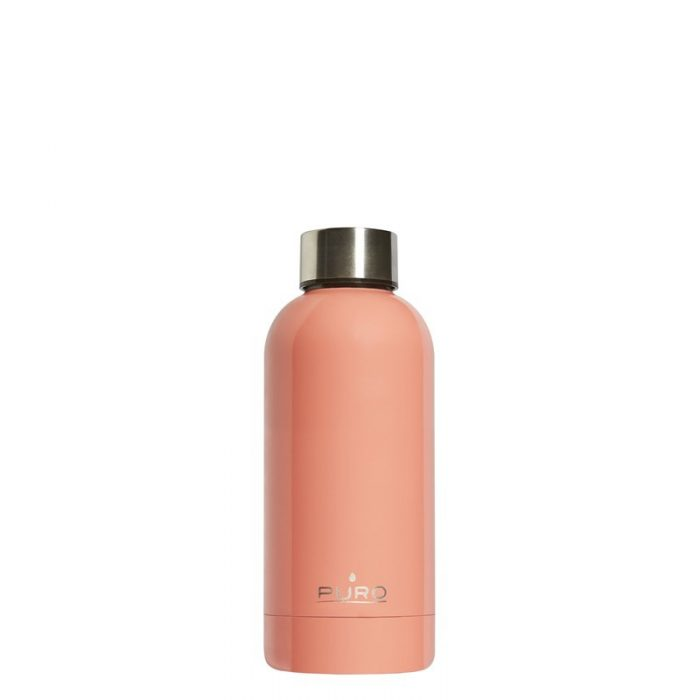 puro hot&cold thermal stainless steel water bottle 350ml (light orange) - export 2184