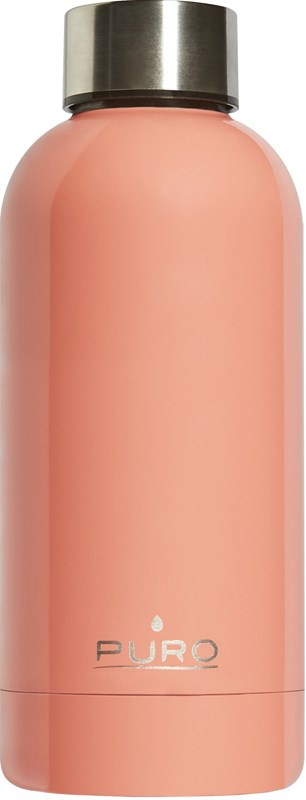 puro hot&cold thermal stainless steel water bottle 350ml (light orange) - export 2185