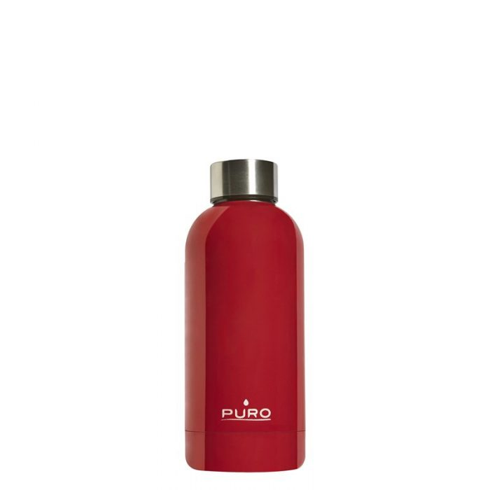 puro hot&cold thermal stainless steel water bottle 350ml (red) - export 2186