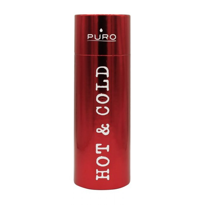 puro hot&cold thermal stainless steel water bottle 500ml (metallic red) - export 2200