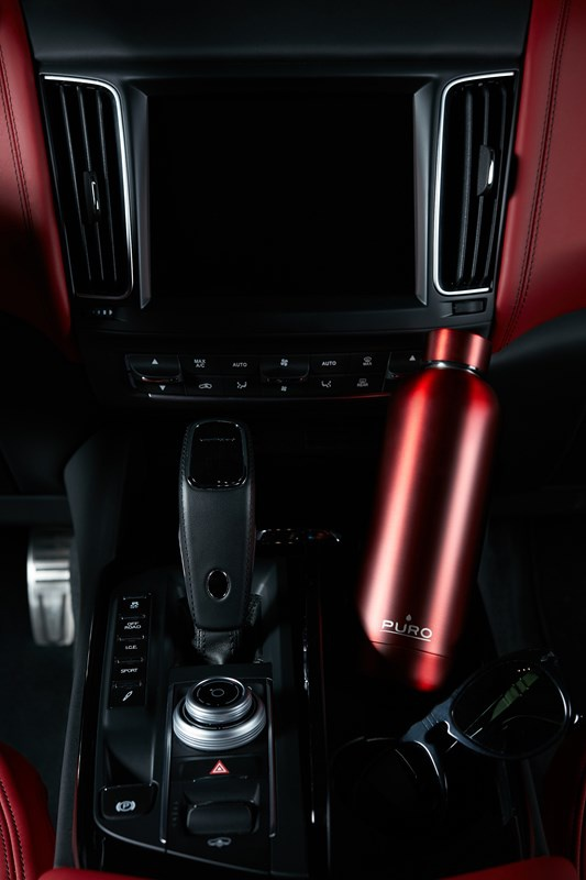 puro hot&cold thermal stainless steel water bottle 500ml (metallic red) - export 2201