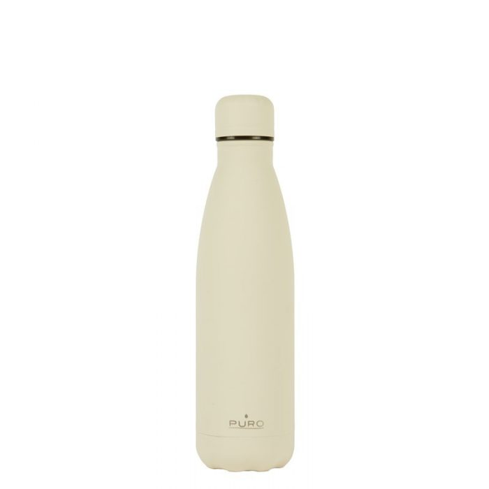 puro icon thermal stainless steel water bottle 500ml (beige) (powder coating) - export 2203