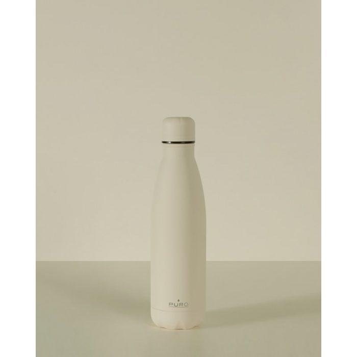 puro icon thermal stainless steel water bottle 500ml (beige) (powder coating) - export 2204