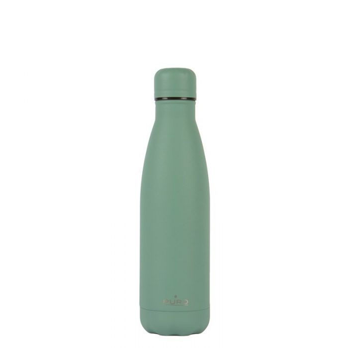 puro icon thermal stainless steel water bottle 500ml (green) (powder coating) - export 2217