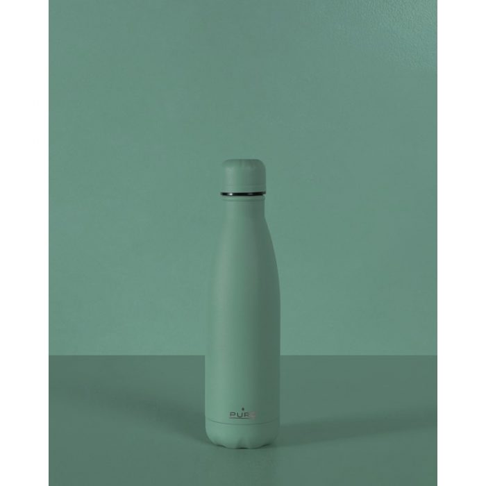 puro icon thermal stainless steel water bottle 500ml (green) (powder coating) - export 2218