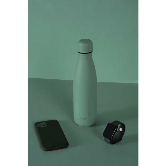 puro icon thermal stainless steel water bottle 500ml (green) (powder coating) - export 2219