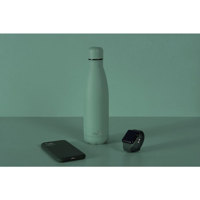 puro icon thermal stainless steel water bottle 500ml (green) (powder coating) - export 2220