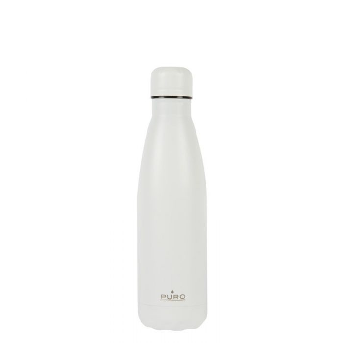 puro icon thermal stainless steel water bottle 500ml (white) (powder coating) - export 2230