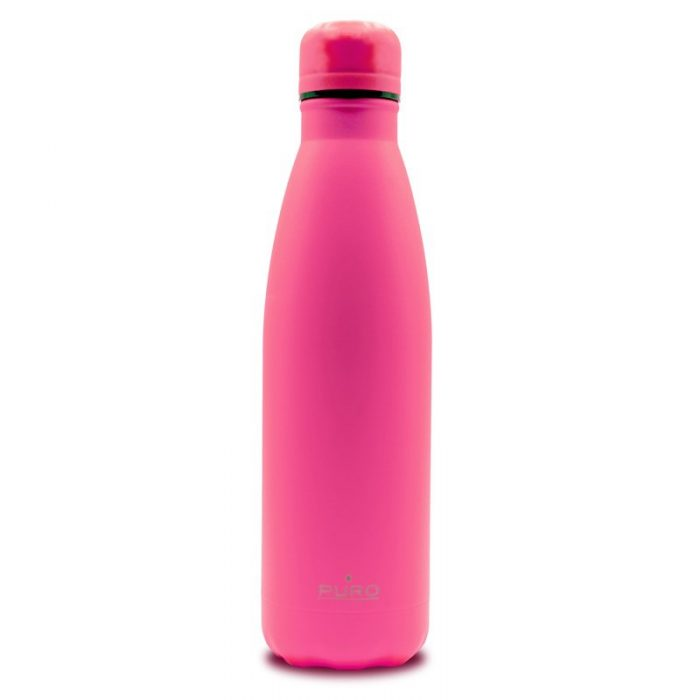 puro icon fluo thermal stainless steel water bottle 500ml (fucsia) (powder coating) - export 2247