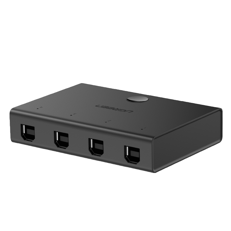 UGREEN Switch Adapter 4in1 USB 2.0 (black)