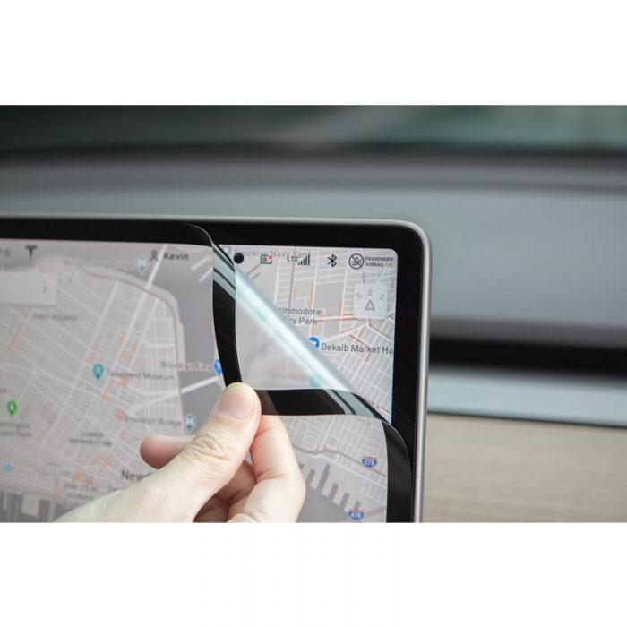 moshi ivisor ag - bubble-free screen protector for tesla model 3's central touchscreen (black/clear matte) - export 2318