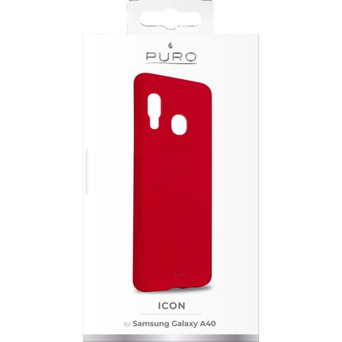 puro icon cover samsung galaxy a40 (red) - export 2431
