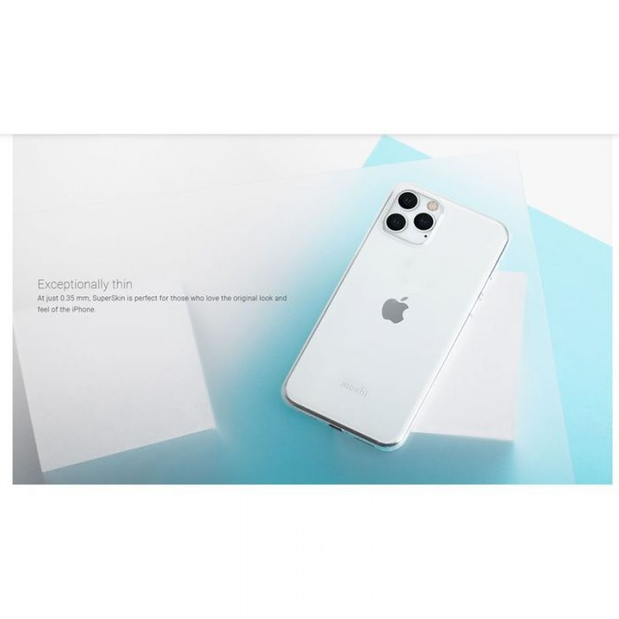 moshi superskin - apple iphone 11 pro (crystal clear) - export 2906