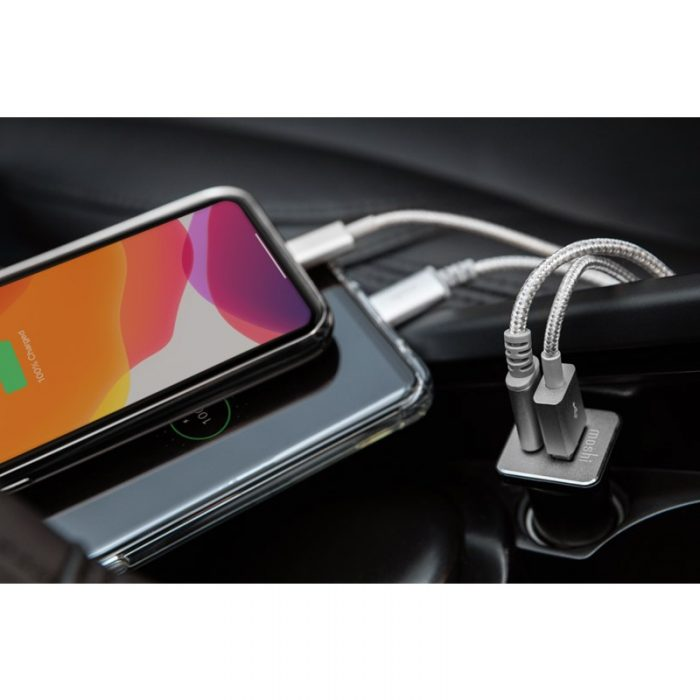 quikduo car charger with usb-c pd and quick charge (36 w) - export 3444
