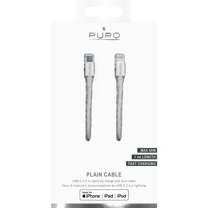 PURO USB-C to Lightning MFi Cable 1m (white) - export 4141