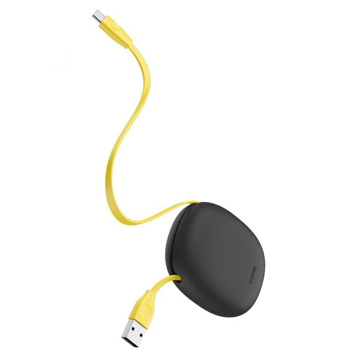 Baseus Let's go Little Reunion One-Way Stretchable Data Cable USB For USB-C, 2A 1m (yellow+gray) - export 428