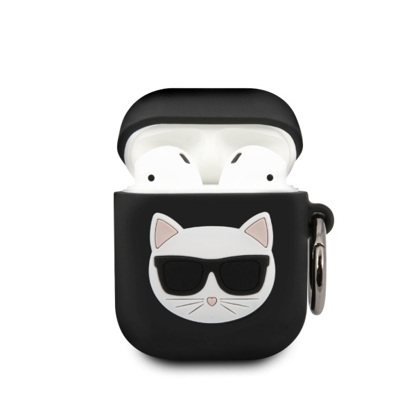 karl lagerfeld klaca2silchbk apple airpods cover black silicone choupette - export 4356