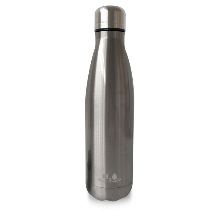 puro h2o thermal stainless steel water bottle 500ml (silver) - export 4456
