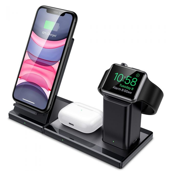 ESR 3in1 Wireless Charging Station Black - export 4602