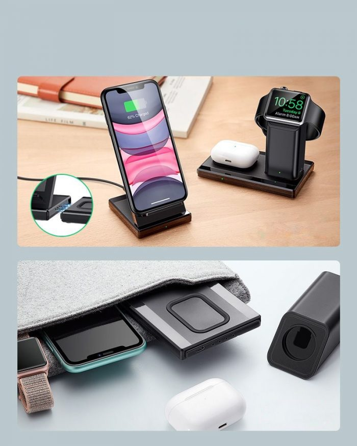 ESR 3in1 Wireless Charging Station Black - export 4606