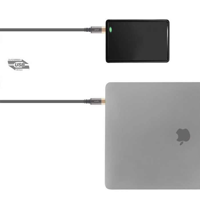 Moshi USB-C Monitor Cable (USB Type-C), 1 m (Gray/Gold) - export 4617