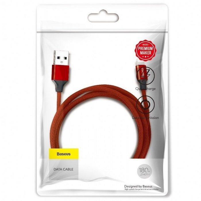 Baseus Yiven Lightning Cable 180 cm 2A Red - krytarna.cz Baseus Yiven Lightning Cable 180 cm 2A Red Lightning USB A 4