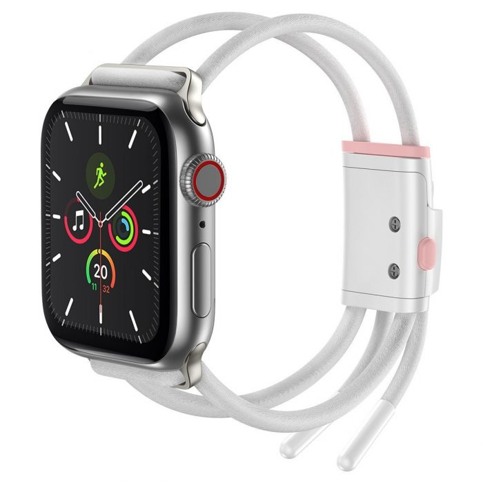 baseus let's go strap apple watch 3/4/5 38mm/40mm (white&pink) - krytarna.cz baseus lets go strap apple watch 345 38mm40mm whitepink apple watch 4